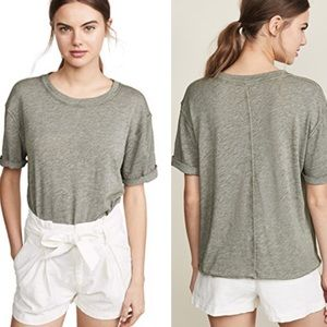 Free people Cassidy tee in army green